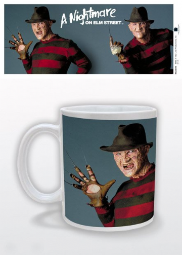 freddy krueger glove pose mug. a nightmare on elm street